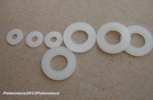 100 Unterlegscheiben DIN 125 Aus Kunststoff Polyamid M2,5 M3 M4 M5 M6 M8 M10 M12