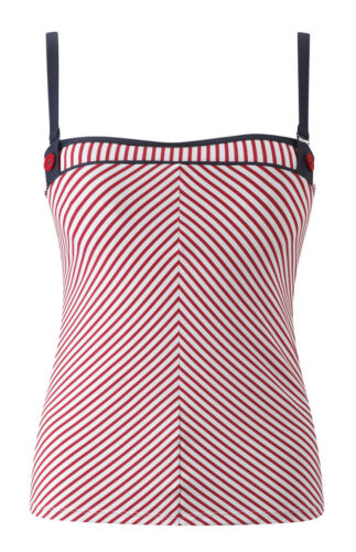 Panache sw0562 Swimwear Lucille top de tankini Rojo Blanco
