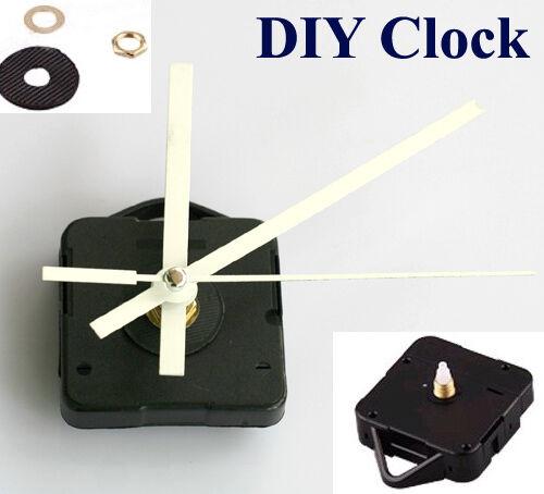 DIY Reparatur Quarz Uhrwerk Quarzuhrwerk Wanduhr Weiss Hand Shaft length 10mm