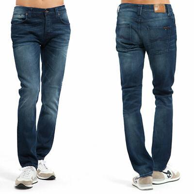 Herrlich Nudie Herren Slim Fit Jeans | Grim Tim Navy Twill |w29 L32 |b-ware