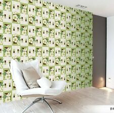 vinyl Wallpaper rolls wallcovering Realistic green flower tile modern kitchen 3D