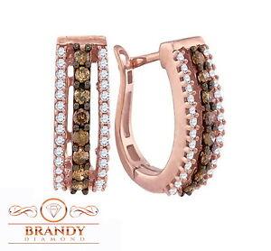 Image Is Loading Brandy Diamond Chocolate Brown 10k Ravishing Rose Gold