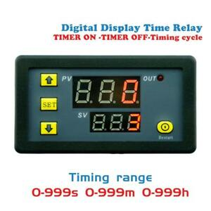Digital-Display-Time-Delay-Relay-Timing-Timer-Cycling-Module-DC12V-Switch-Module