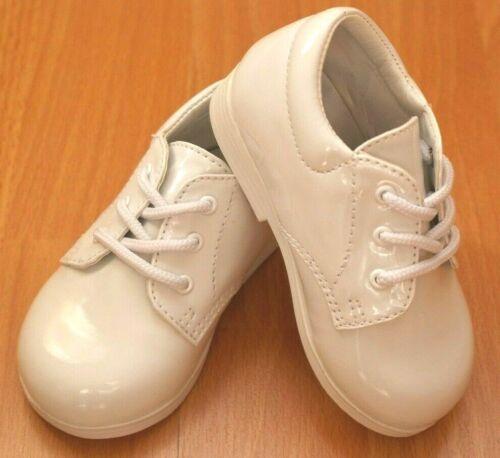 NEW INFANT BOY FORMAL TUXEDO SHOES Size 8 Shiny BLACK//WHITE Wedding//EVENT//PARTY