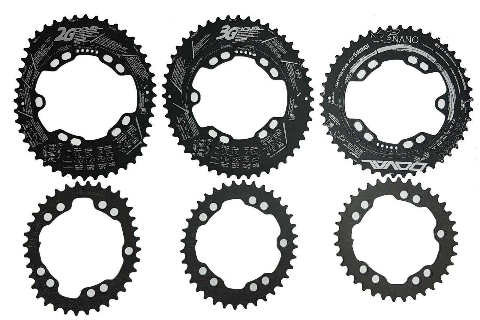 DOVAL Cyclocross Chainring 2G, 3G Type BCD110 For Shimano Sram etc..