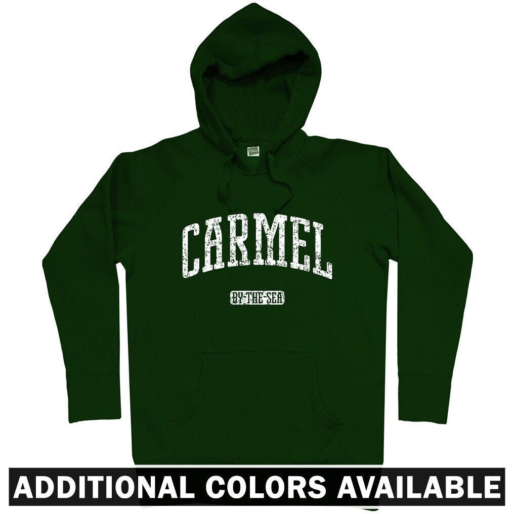 Carmel California Hoodie - By The Sea Highlands Monterey County CA - Men S-3XL
