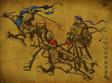"""Teenage mutant ninja turtles 2014 Movie  Fabric poster 32"""" x 24""""  Decor 03"""