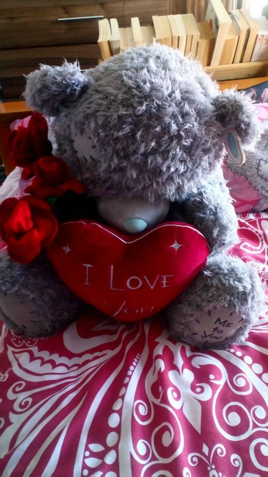 ME to You Tatty TEDDY Grande Amore Cuore Con Rose Carine Look