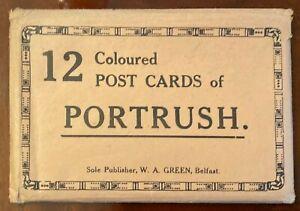 W-A-Green-Belfast-Portrush-Vintage-Postcards-12-Pack-Co-Antrim-Ireland-1920-039-s