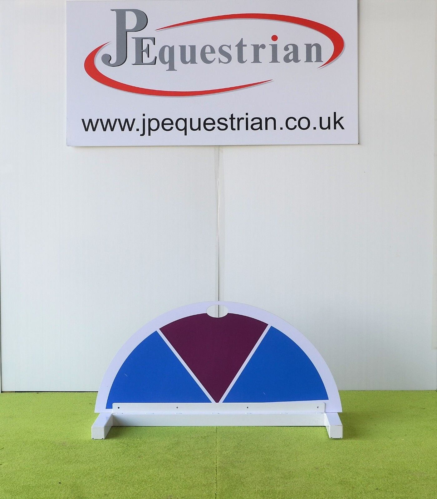 bluee and Purple Half Moon Segment Show jump Filler-For Showjumping