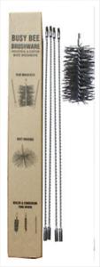 CFC006 360cm/12' Flue Cleaning Kit w 200mm/8 inch Black Brush Head