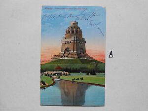 Carte Postale Vue Carte Saxe. Leipzig Volker Bataille Monument-g Volkerschlachtdenkmal Fr-fr Afficher Le Titre D'origine Diversifié Dans L'Emballage