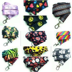 Spirius-Lanyard-Neck-Strap-for-ID-Badge-Holder-with-metal-clip-multicolour