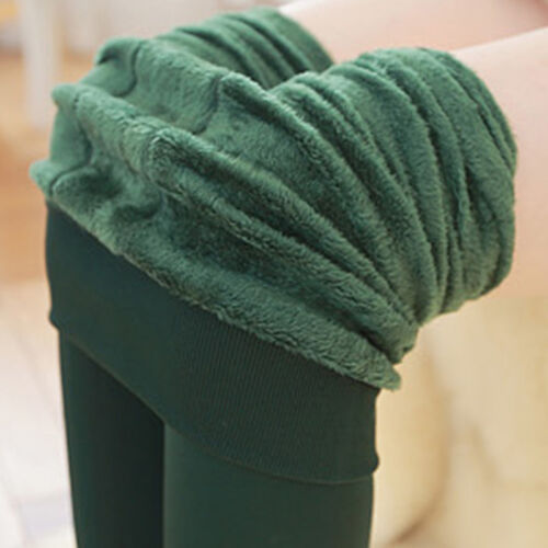 Damen Winter Thermo Leggings Warm Stretch Skinny Innenfleece Leggins Strumpfhose