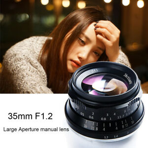 Details about 7artisans 35mm F1 2 Manual Focus Lens for Sony A7 A7R  /M4/3/Fuji GH5 X-T2 Camera