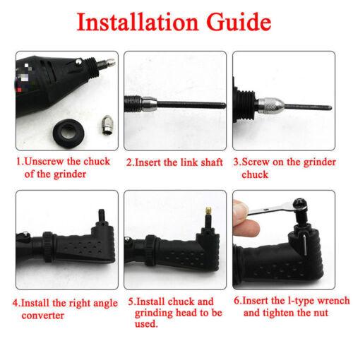 Right Angle Converter Kit de Fixation Pour Outil électrique Accessoires Outil Rotatif