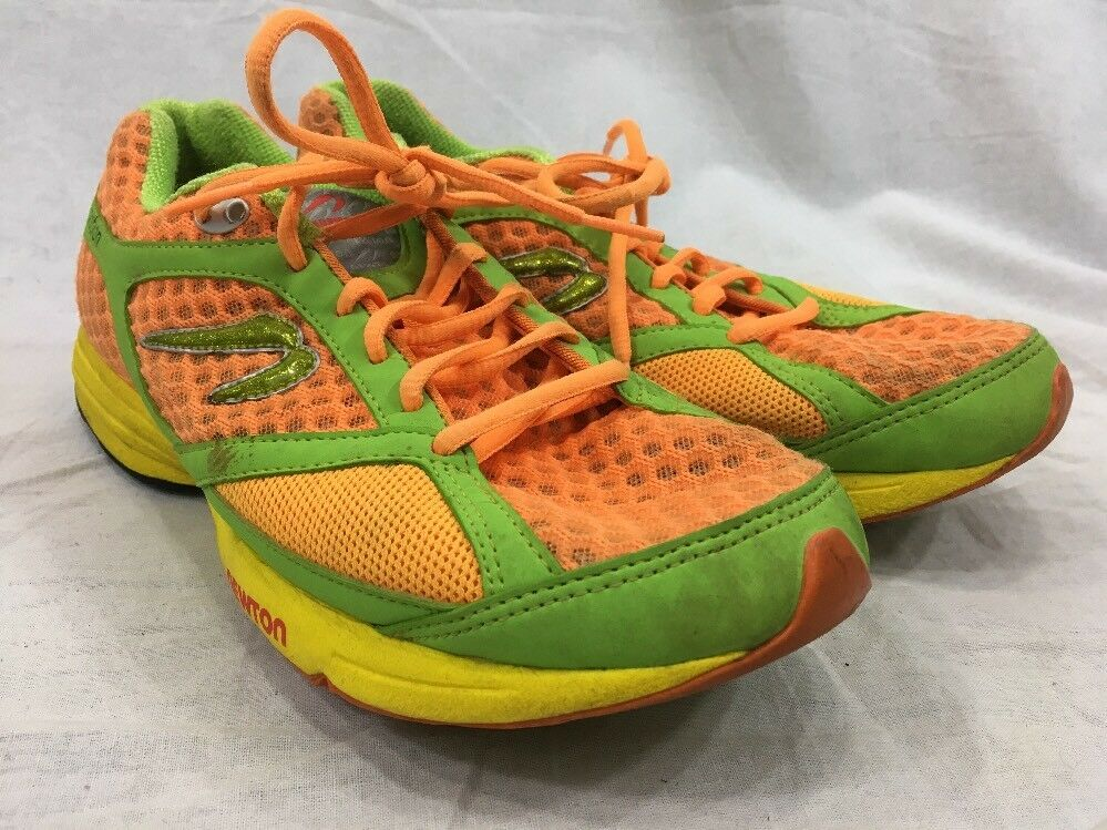 Newton Motion Running Womens 10 shoes Sneakers Yellow orange Green Lace Up