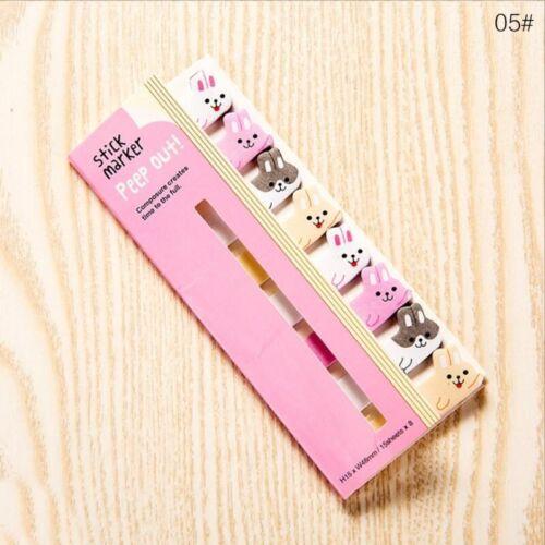 8pcs//lot KAWAII CARTOON ANIMALS CAT PANDA MEMO PAD STICKY NOTES STATIONERY ITEM