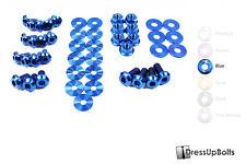 Dress Up Bolts for 08-14 Subaru WRX and STI Blue Ti Titanium Engine Bay Kit
