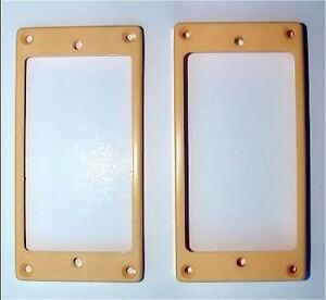 Ambitieux Guitar Parts-humbucker Pickup Mounting Rings Garniture Panneaux-set 2-crème Ivoire-afficher Le Titre D'origine