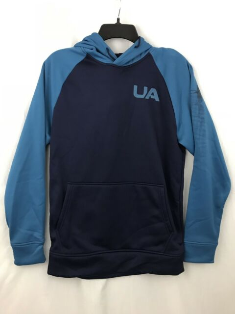 Under Armour Storm Sweatshirt Mens XS Extra Small Hoodie Navy Blue  Turquoise New ea1cd70f41b8