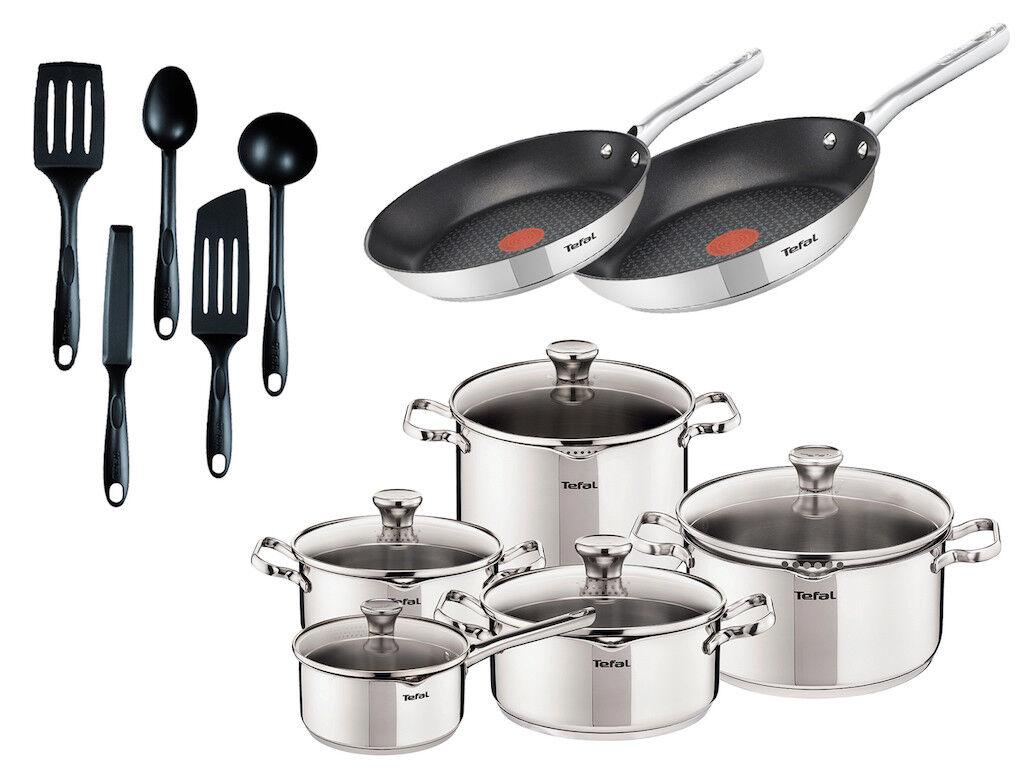 Tefal Duetto casseroles 10 pièces, 2 x Poêle 24, 28 cm, 5 x Assistant de cuisine Casseroles