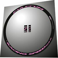Fulcrum Racing Speed Xlr Custom All Pink Replacement Rim Decal Set For 2 Rims