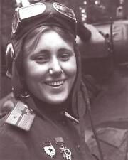 WWII B&W Photo Soviet Female Tank Crew Russian Armor  WW2 Russia  / 1110