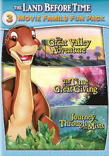 The Land Before Time: 3 Movie Family Fun Pack (DVD, 2015, 2-Disc Set)