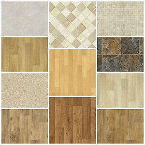 Vinyl floor new quality non slip flooring lino kitchen for Cheap bathroom vinyl flooring