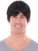 Short Black Men Straight Fashion Wig With Free Wig Cap