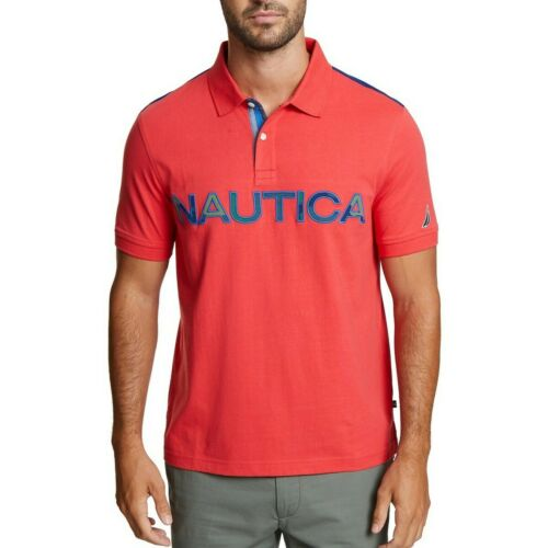 NAUTICA NEW Men/'s Oahu Cotton Logo Polo Shirt TEDO