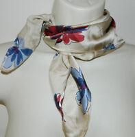 Pamela Mccoy 100% Silk Floral Multicolor Small Casual Clutch Scarf Rn 98393