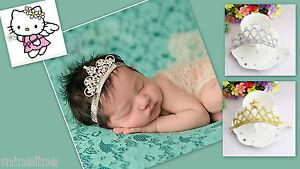 ★★★NEU Baby Fotoshooting Haarband Krone gold  Strass ★★★H7