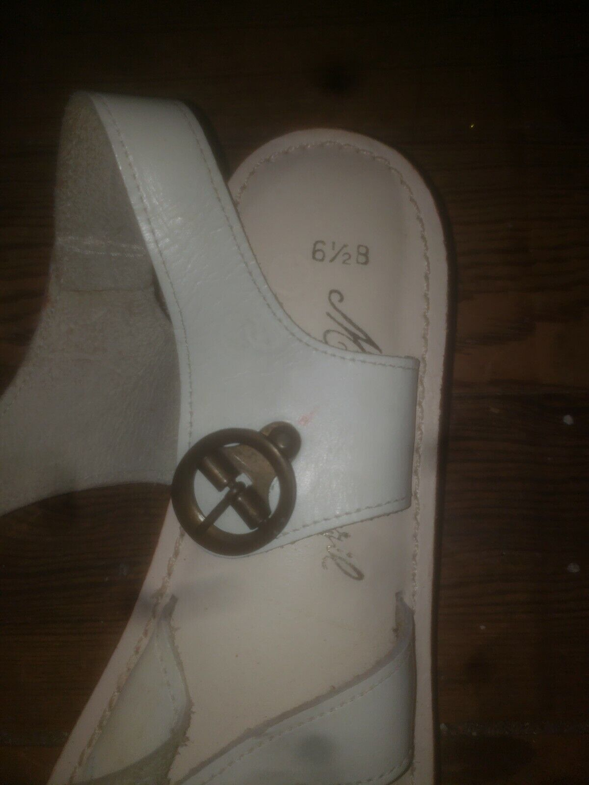 NOS Never Worn Sandals Womens 6.5  40s 50s 60s 70… - image 3
