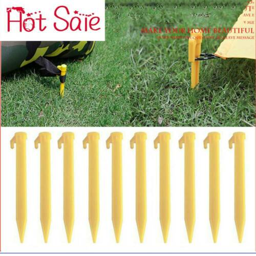 10x Outdoor Camping Stakes Pegs Nails Tent Fixing Plastic Heavy Duty Stake New*