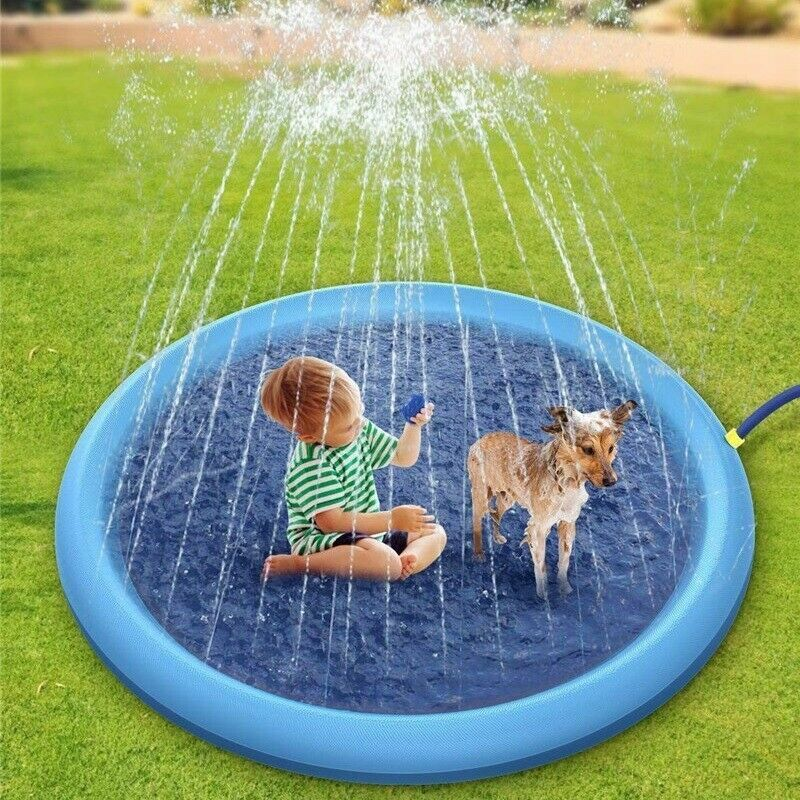 170cm Inflatable Play Mat Water Toys Outdoor Party Sprinkler Splash Pad for Kids