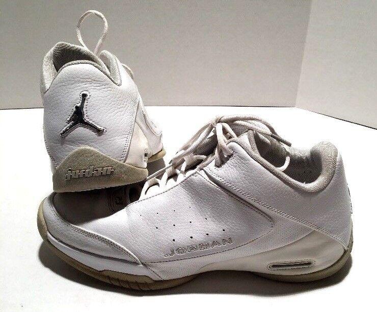Jordan Team Strong Low Shoes 2006 -White/Metallic Silver Sz 12- 313534107-RARE