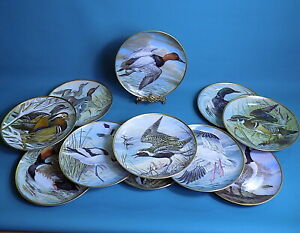 Haviland-Limoges-by-Basil-Ede-Water-Birds-of-the-World-Collection-of-11-Plates