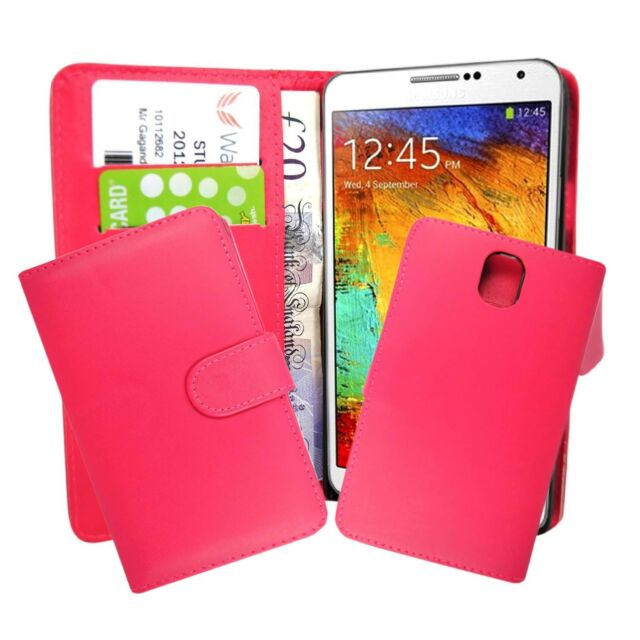 para Samsung Galaxy Note 3 LISO ROSA FUCSIA FUNDA
