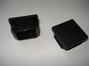 Lote-de-2-conectores-tapones-negros-PVC-para-el-tubo-de-90x90-mm-cuadrado-aleta