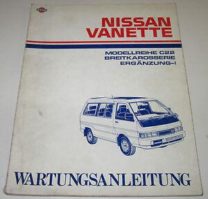 Werkstatthandbuch Wartungsanleitung Nissan Vanette C22 Karosserie Ergänzung 1 Kaufe Jetzt Auto & Verkehr