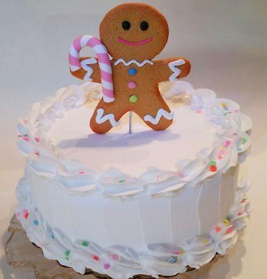 Strange Large Pastel Gingerbread Man Fake Cake Display 9 Faux Cake White Personalised Birthday Cards Fashionlily Jamesorg