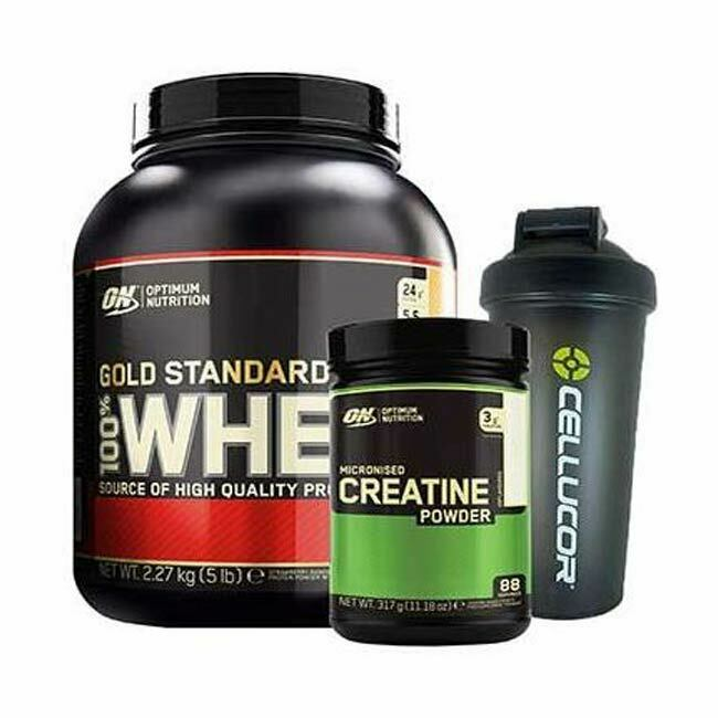 Optimum Nutrition 100% Whey Whey Whey Gold Standard- 2270g + Creatine Powder 317g + Shaker 78dfd8