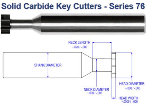 """Carbide Keyseat Cutter 3//16/"""" Diameter x 1//32/"""" Wide Internal Tool USA #76-1055"""