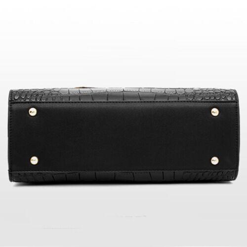Women/'s PU Leather Crocodile HandbagS Sling Satchel Tote CrossBody Shoulder Bags