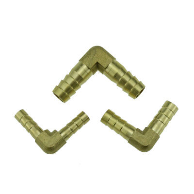 """Brass Hose Tail Barb Fitting Elbow For Hose ID 6mm 10mm 3//8/"""" 1//4"""")8mm(5//16/"""""""