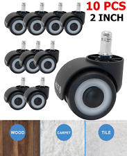 10 Set Office Chair Caster Wheels Replacement Swivel 2 Casters Universal Fit