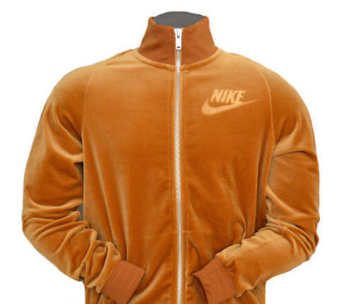Nike Velour Men/'s Loose Fit ZIP Up Jacket Elemental Gold AH3386-722 New Sz XL