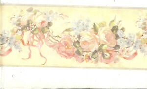 Image Is Loading Victorian Rose Swag With Bows Blue Gray Trim